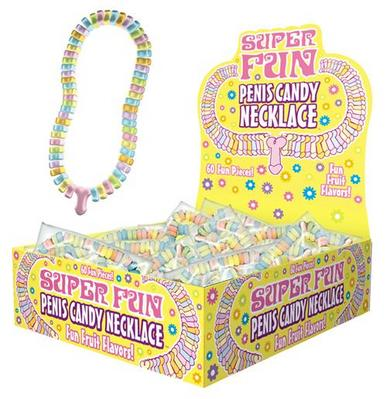 50 pc. Super Fun penis candy necklace display