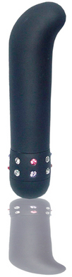 Velvet-Mini G-spot Vibrator with Smooth Satin Finish – Black