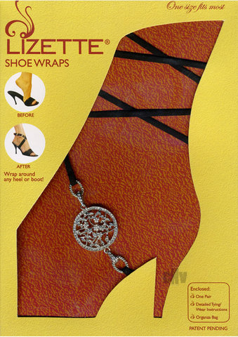 Shoe Wrap Round Medallion – Blk