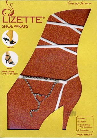 Shoe Wrap Heart – White