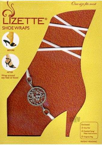 Shoe Wrap Round Medallion – White