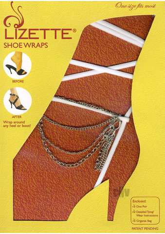 Shoe Wrap Chain – White