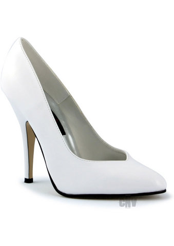 Seduce 5 White Heel Pump 9