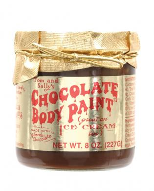 Tom and sally's chocolate body paint – 8 oz jar