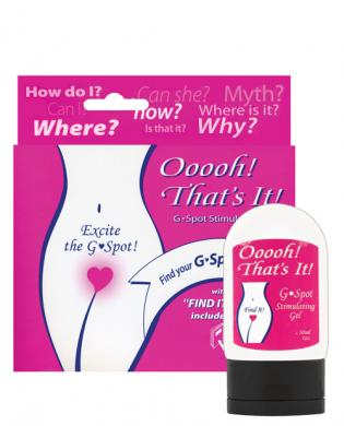 Ooooh, that's it! g-spot stimulating gel