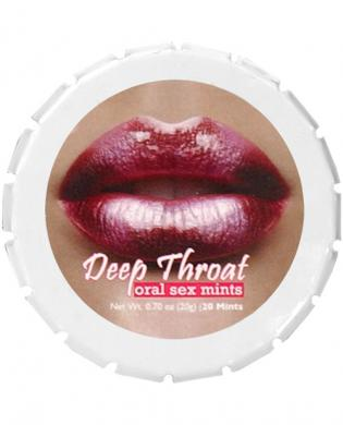Deep throat mints – tin of 20