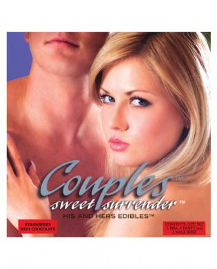 Couples sweet surrender his and her straw wchoc 3pc