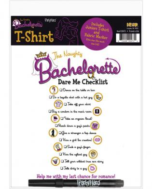 Naughty bachelorette dare me checklist t-shirt