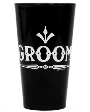 Groom (rock) pint glass – black