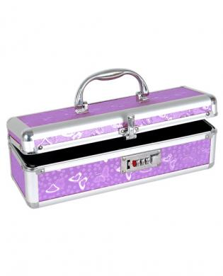 Lockable vibrator case – purple