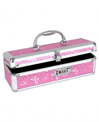 Lockable vibrator case – pink