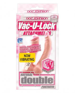 Vac-u-lock double penetrator vibrating – natural