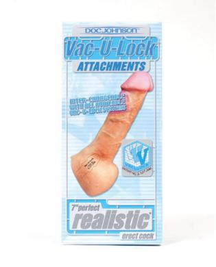 Vac-u-lock 7in perfect realistic cock