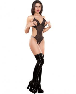 Herringbone net cupless teddy black s/m