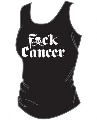 F ck cancer women's tank top white black lg