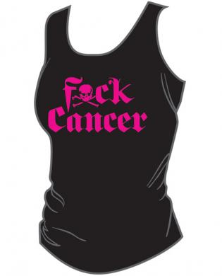 F ck cancer women's tank top pink black sm