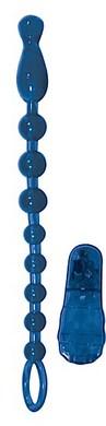 Vibrating butt beads - blue