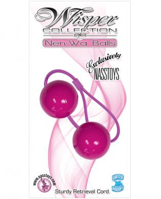 Whisper collection ben-wa balls waterproof – purple