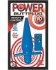 Power butt plug 10 function w/remote control - blue