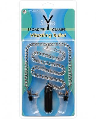 Y-style broad tip clamps w/vibrating bullet