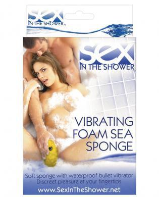 Sex in the shower vibrating foam sea sponge