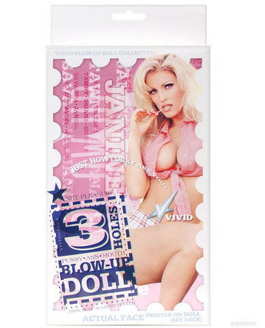 Vivid 3 Hole Doll With Actual Face - Janine