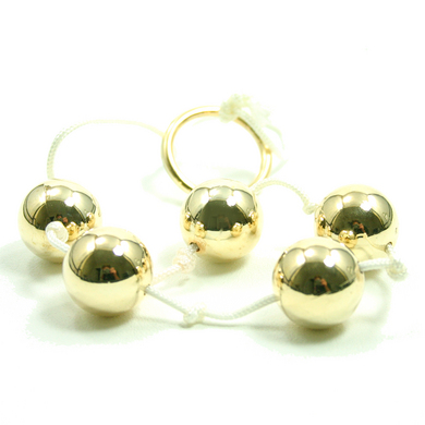 Gold Anal Beads Large