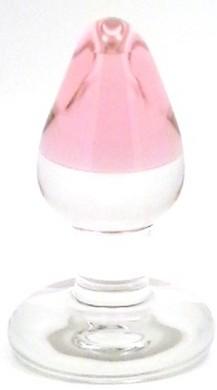 Pink GumDrop Glass Plug by RubyGlass21