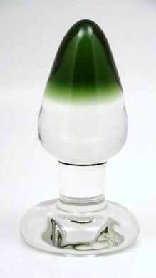 Green GumDrop Glass Plug by RubyGlass21
