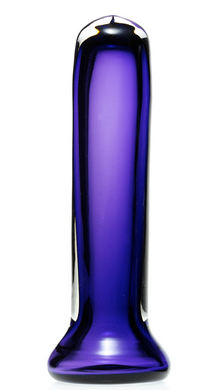 Simply Blown Silky Hand Blown Glass Dildo, Large, Amethyst