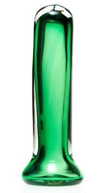 Simply Blown Silky Hand Blown Glass Dildo, Large, Emerald