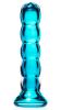 Simply Blown Shudder Hand Blown Glass Dildo, Medium, Aqua