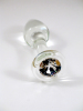 Crystal Delights Crystal Clear Glass Anal Plug