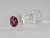 Crystal Delights Rose Glass Anal Plug
