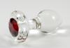 Crystal Delights Fuchsia Glass Anal Plug (small)