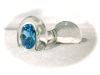 Crystal Delights Blue Glass Anal Plug (small)