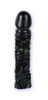 Rubber dildo black 8 inch