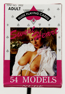 54 nude female models on playing cards.