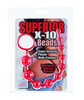 Silicone x-10 beads - red