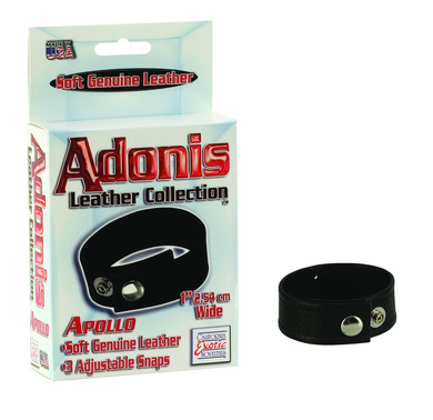 Adonis leather collection apollo 3 snap adjustable