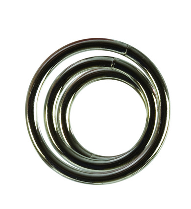 Metal rings 3 pack (sm, md, lg) – silver