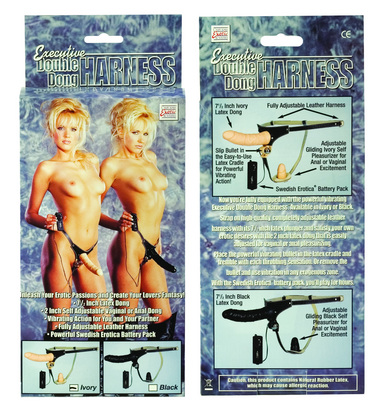 Executive Double dildo Harness -Beige