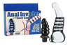 Anal invader w/cock cage 4.5in butt plug w/latex cage