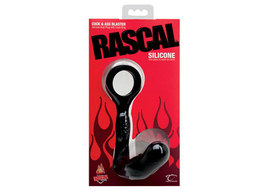 Rascal silicone cock and ass blaster – red