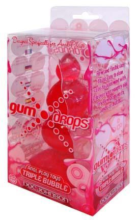 Gumdrops Triple Bubble Red