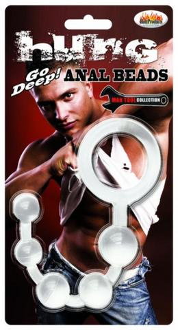 Hung Man Tools Anal Beads Clear