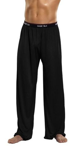 Pants Knit Silk Black Extra Large