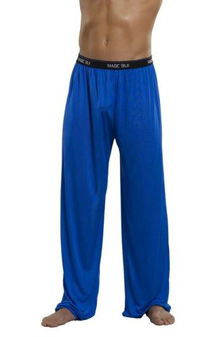 Pants Knit Silk Cobalt Small