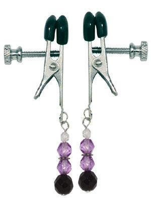 Adj Clamp W/Purple Beads