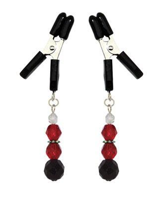 Lite Line Clamp W/Red Beads